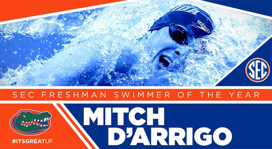 MITCH D'ARRIGO SEC FRESHMAN SWIMMER OF THE YEAR