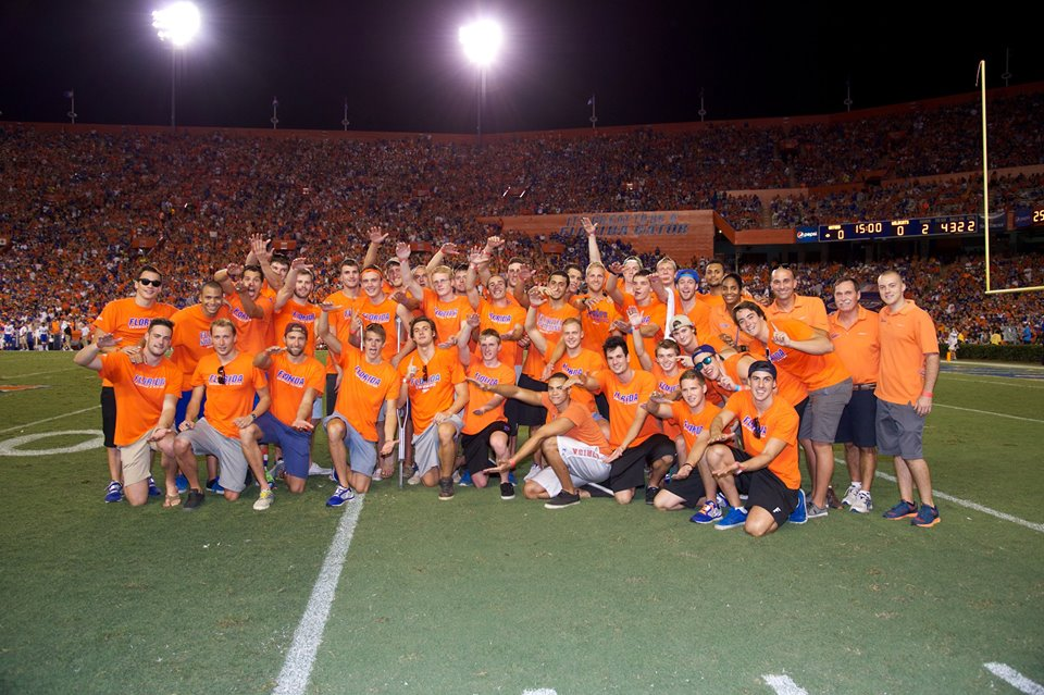 """On Field Presentation"" of the Gators 2014 SEC Men's Swimming & Diving Champions!"
