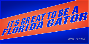 It's great to be a Florida Gator