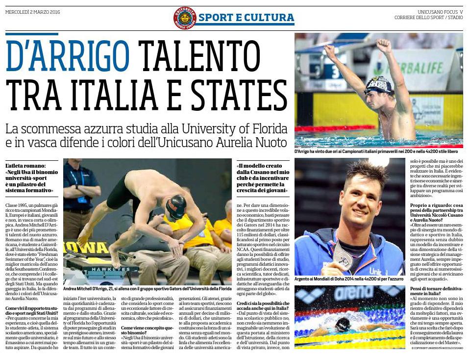 Intervista Corriere dello Sport