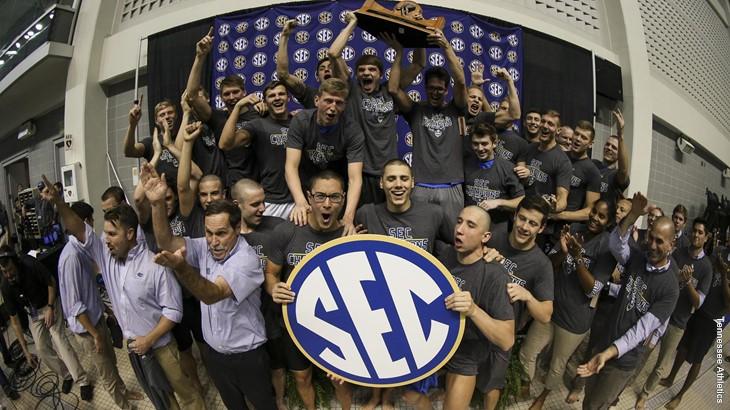 Florida men's swimming & diving team captured its fifth-straight SEC Championship